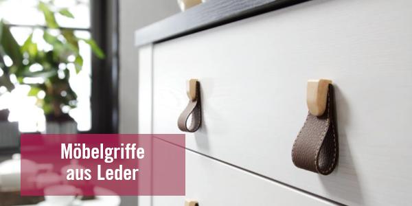Möbelgriffe aus Lederschleifen – Große Auswahl an Leder-Möbelgriffen bei LGM Beschlag