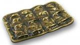 Möbelgriff Vilshofen, Design,  Klassisch,  Vintage Zinkdruckguß - Altmessing brüniert gebürstet | 0094x63x24 LA:32