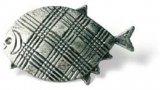 Möbelknopf Neuruppin, Tier,  Meer,  Fisch,  Design,  Links Zinkdruckguß - Zinnfarbig | 0051x32x23