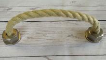 Möbelgriff Rope, Landhaus,  Vintage,  Seil Kunststoff metallisiert - Warmgrau, Schnur - Beige | 0229x50x37 LA:192