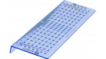 Bohrschablone Plön, Schlicht Kunststoff - Blau transparent | 0288x74x17