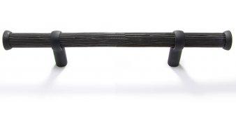Möbelgriff Endingen Kunststoff Holzeffekt - Holzeffekt, Kunststoff glasiert - Schwarz Matt | 0170x38x18 LA:96