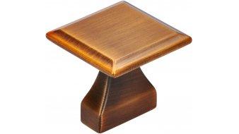 Möbelgriff Olm, Vintage Zinkdruckguß - Messing schwarz gebürstet | 0032x32x30 LA:16