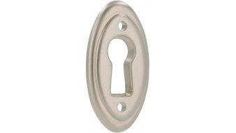 Schlüsselschild Hanau, Schlicht Zinkdruckguß - Matt vernickelt | 0037x19x3 LA:22
