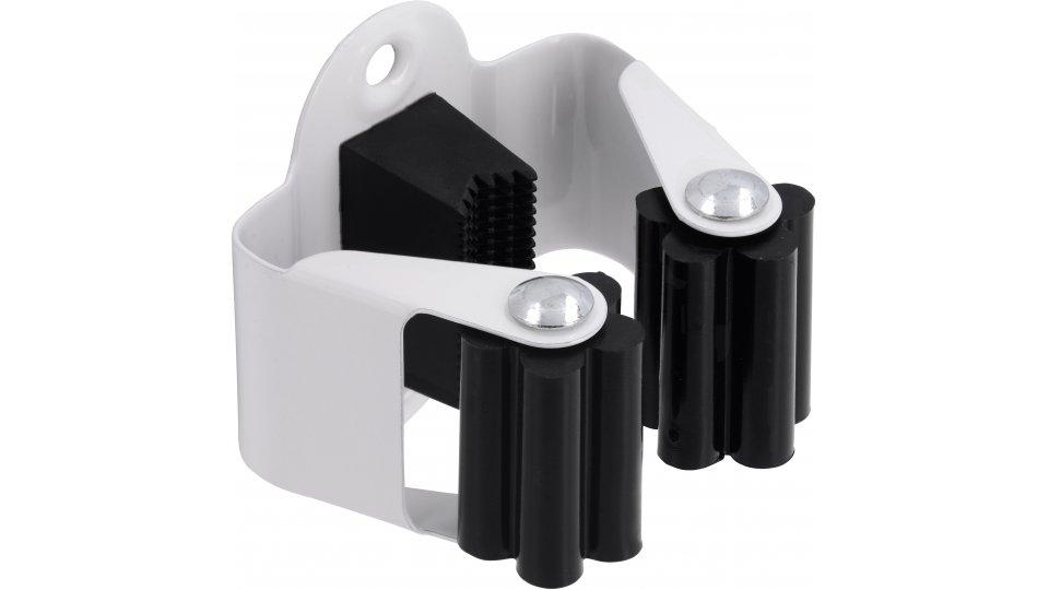 Besenhalter Höchberg Stahl - Kunststoff reinweiß pulverbeschichtet schwarz | 0050x44x51 LA:38