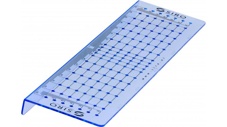 Bohrschablone Plön, Schlicht Kunststoff - Blau transparent | 288x74x17