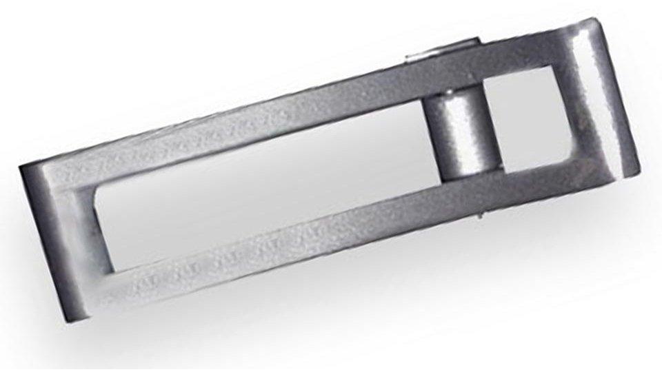 Hängegriff Haldensleben, Schlicht Zinkdruckguß pulverbeschichtet - Alufarbig   57x16x19