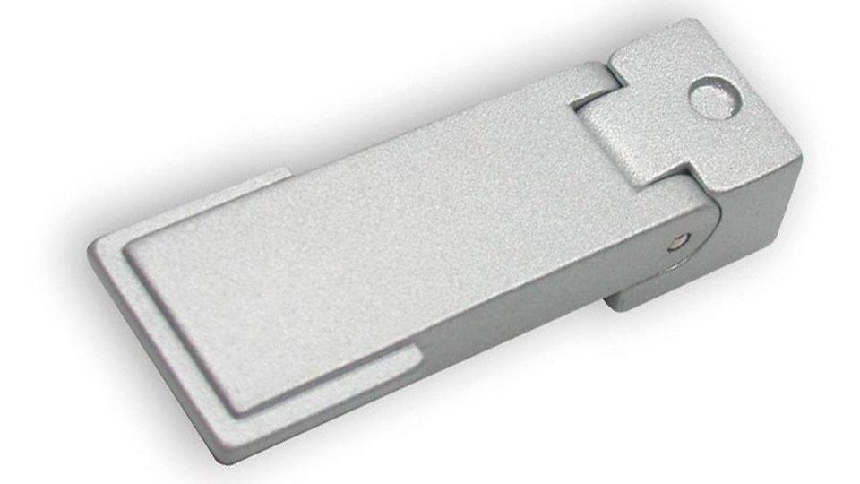 Hängegriff Halle, Schlicht Zinkdruckguß pulverbeschichtet - Alufarbig | 53x20x12
