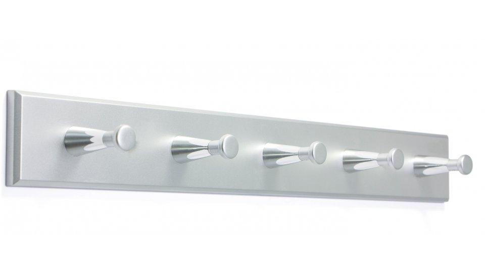 Hakenleiste Billerbeck, Schlicht Kunststoff metallisiert - Chrom, Kunststoff metallisiert - Chrom glänzend, Kunststoff metallisiert - Chrom | 400x50x48 LA:240