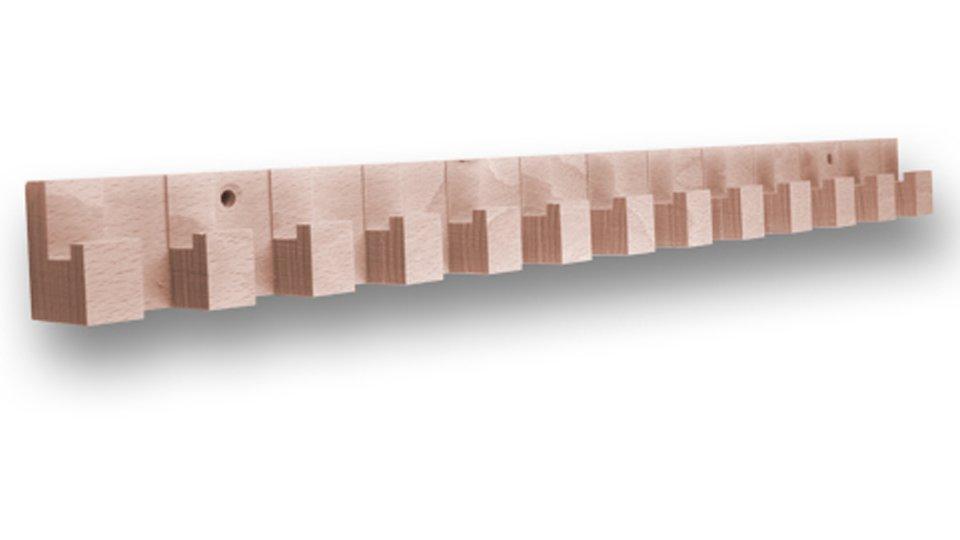 Hakenleiste Dossenheim, Schlicht Holz - Buche roh, Menge - 1 Stück | 435x35x26 LA:314