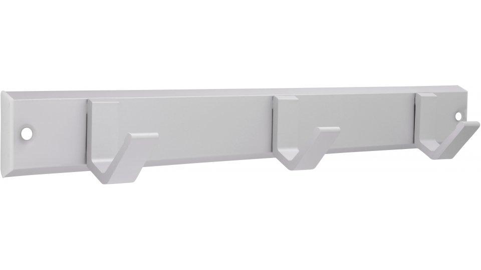 Hakenleiste Grefrath, Schlicht Aluminium - Kunststoff silber natur matt weiß | 0330x47x44 LA:312