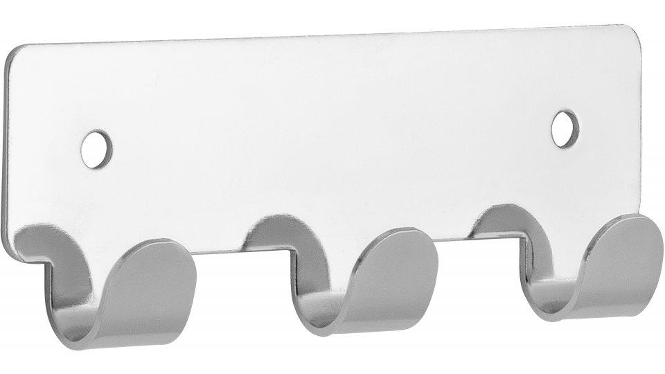 Hakenleiste Haiger, Schlicht Stahl chrom glänzend | 0114x16x41 LA:84