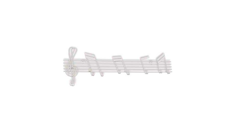 Hakenleiste Ingelheim, Musik,  Noten,  Design Zinkdruckguß pulverbeschichtet - Reinweiß | 500x167x28 LA:316