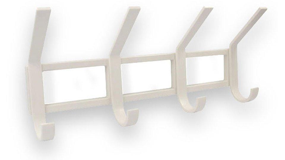 Hakenleiste Nordstemmen, Schlicht Kunststoff - Weiß | 320x145x78 LA:100 x 3