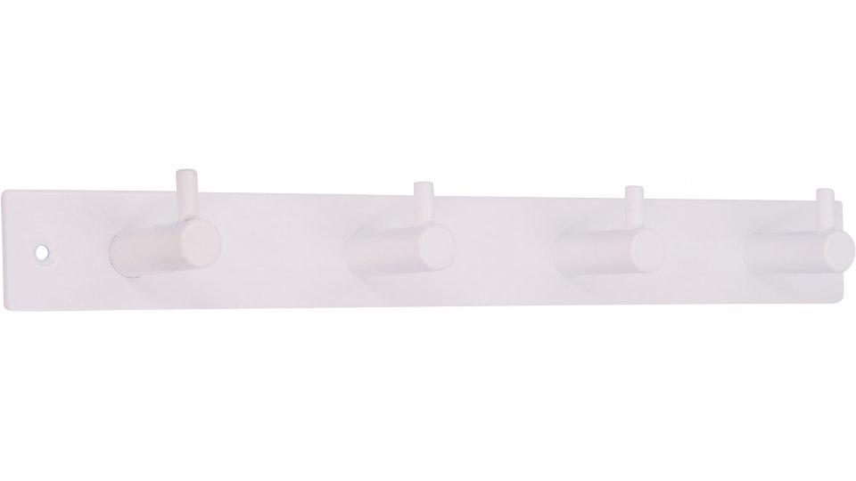 Hakenleiste Sande, Modern Stahl reinweiß pulverbeschichtet   0322x43x38 LA:298