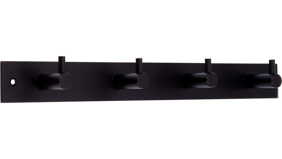 Hakenleiste Sande, Modern Stahl schwarz matt pulverbeschichtet | 0322x43x38 LA:298