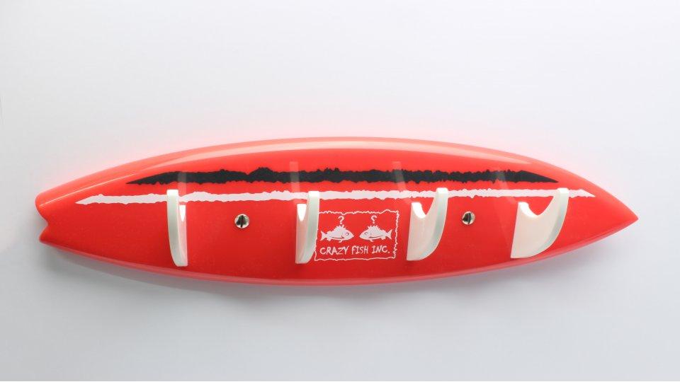 Hakenleiste Velen, Surfbrett, Meer, Kinder, Kunststoff - Rot