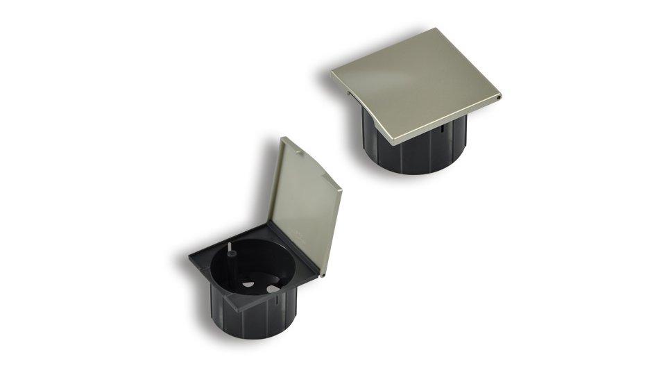 Kabeldurchlass Lauta Kunststoff metallisiert - Nickel, Kunststoff - Schwarz | 0070x66x45