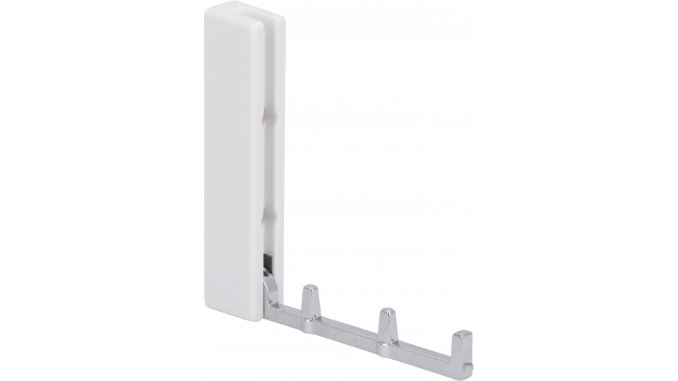 Klapparm Bad-Salzdefurth, Modern, Design Zinkdruckguß - Chrom glänzend, Kunststoff - Weiß | 121x19x26 LA:40