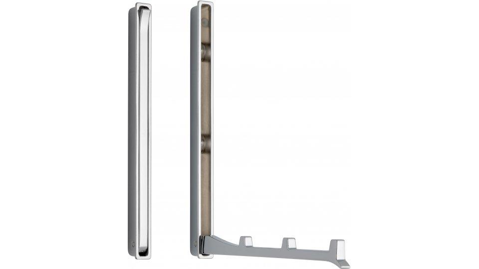 Klapparm Hude, Modern,  Design Zinkdruckguß - Chrom glänzend   177x13x19 LA:64