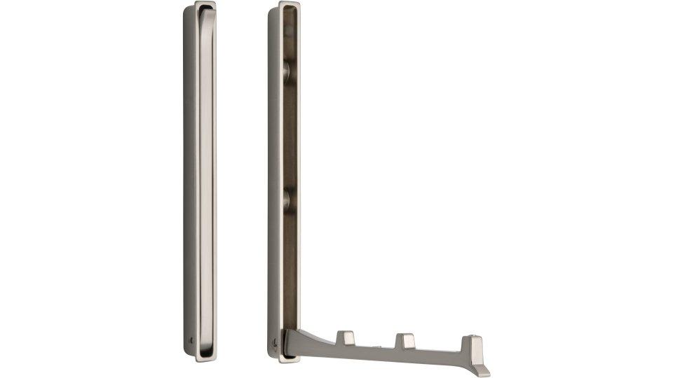 Klapparm Hude, Modern,  Design Zinkdruckguß - Vernickelt feingeschliffen | 177x13x19 LA:64