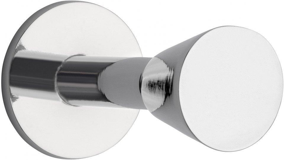 Kleiderhaken Mansfeld, Modern Zinkdruckguß - Chrom glänzend   18x25x44