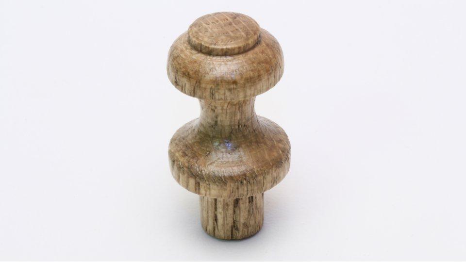 Kleiderhaken Östringen, Schlicht Holz eiche gebeizt lackiert   0019x24x19