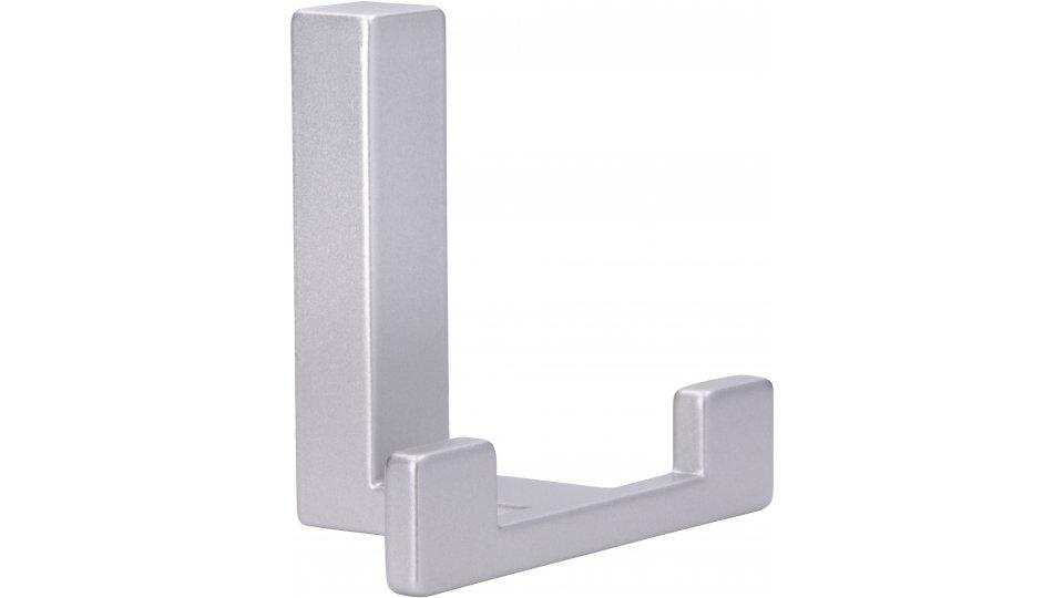 Kleiderhaken Rheinau, Modern,  Design Zinkdruckguß pulverbeschichtet - Alufarbig | 61x70x40 LA:31