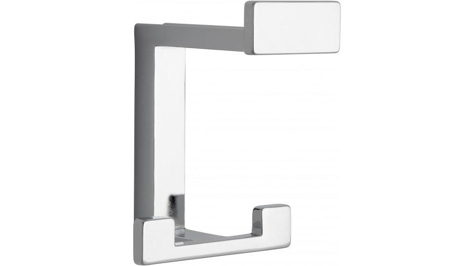 Kleiderhaken Sassenburg, Modern,  Design Zinkdruckguß - Chrom glänzend | 92x70x80 LA:31