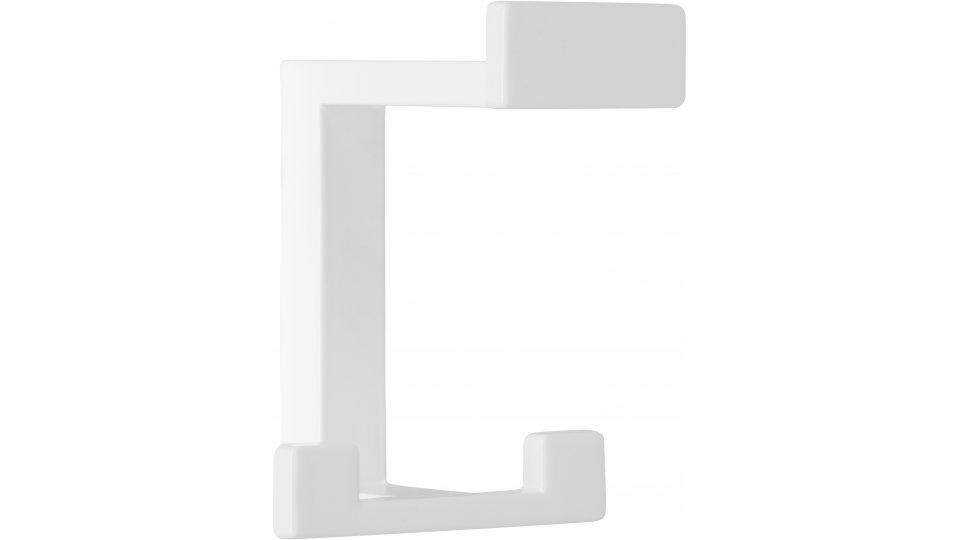 Kleiderhaken Sassenburg, Modern,  Design Druckguss reinweiß pulverbeschichtet | 0092x80x70 LA:31