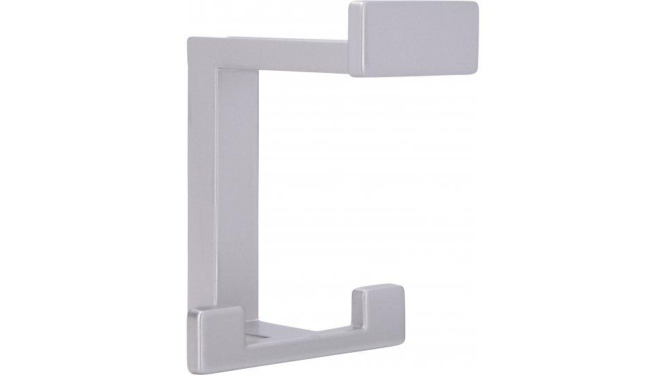 Kleiderhaken Sassenburg, Modern,  Design Zinkdruckguß pulverbeschichtet - Alufarbig | 0092x70x80 LA:31