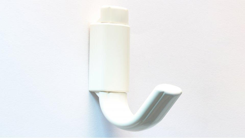 Kleiderhaken Worms, Schlicht Kunststoff weiß | 0070x50x24 LA:20