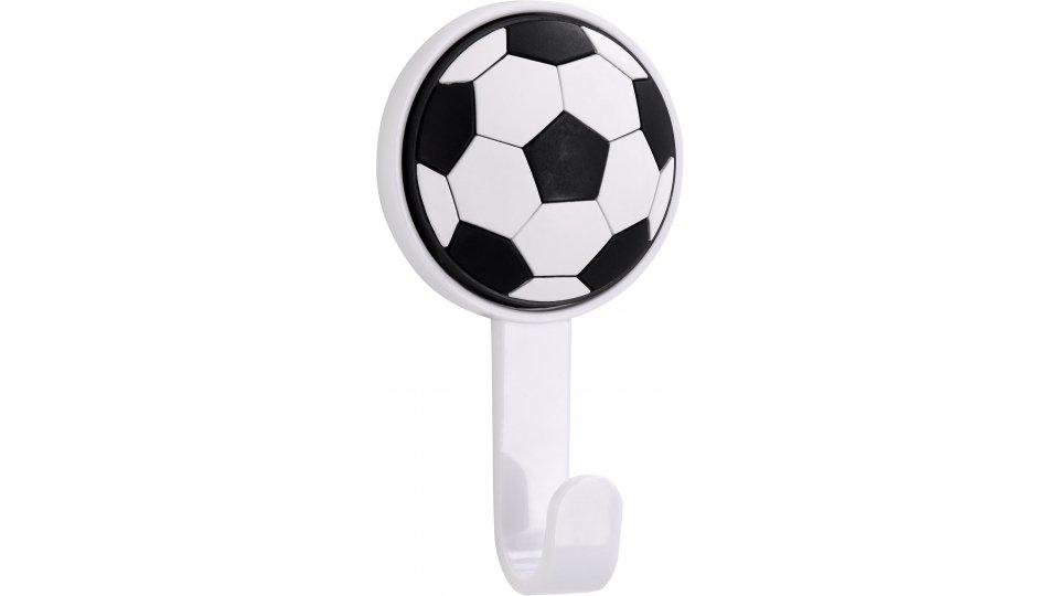 Kleiderhaken selbstklebend Trebur, Selbstklebend,  Kinder,  Fußball Kunststoff - Softmaterial weiß weiß-schwarz | 0077x21x42 LA:Selbstklebend