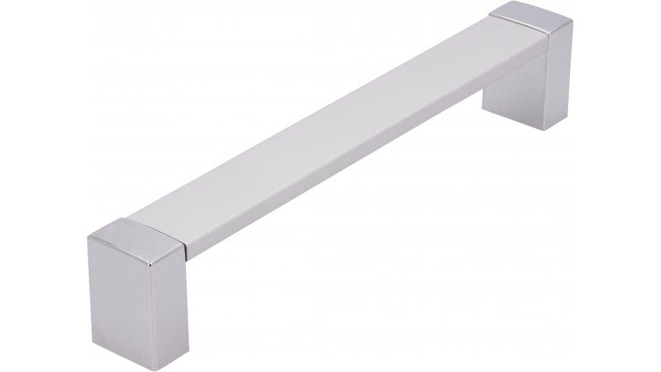 Möbelgriff Adendorf, Modern Aluminium - Natur matt, Kunststoff galvanisiert - Chrom glänzend | 172x21x30 LA:160