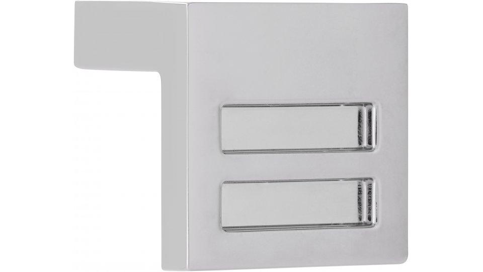 Möbelgriff Bad-Pyrmont, Design Zinkdruckguß - Chrom glänzend   30x30x25 LA:16