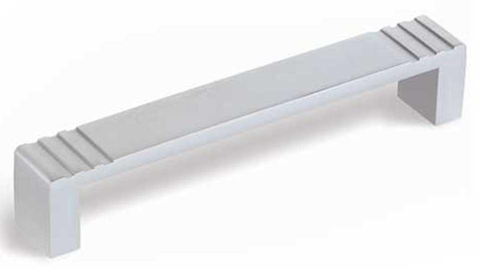 Möbelgriff Büren, Modern Aluminium silber natur matt | 0138x26x20 LA:128