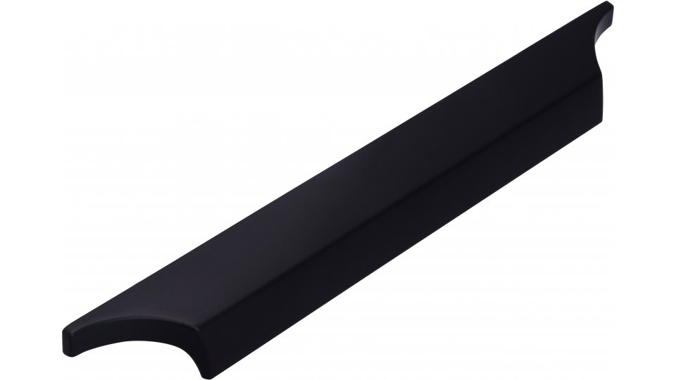 Möbelgriff Colditz, Modern Druckguss schwarz matt pulverbeschichtet | 0218x20x21 LA:160
