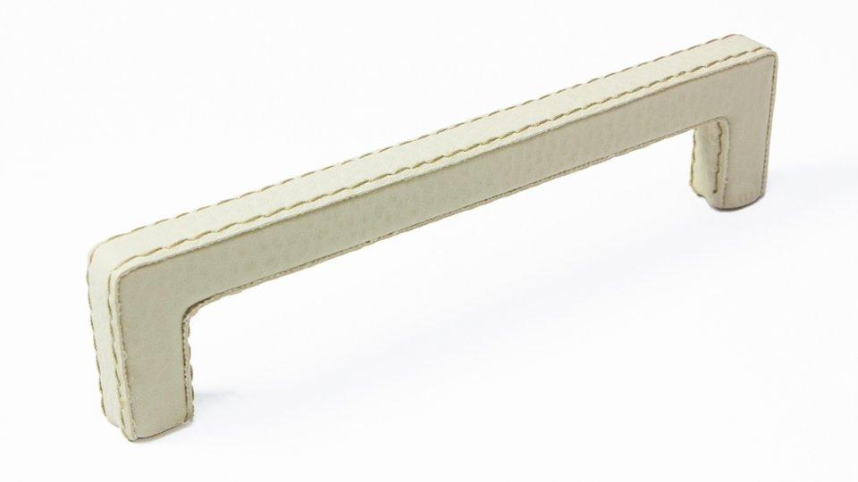 Möbelgriff Dassel, Modern,  Design Lederstruktur - Beige | 141x11x32 LA:128