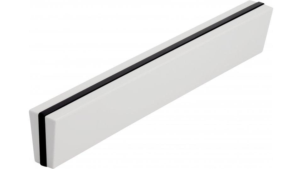 Möbelgriff Erding, Design,  Modern Kunststoff schwarz weiß   0153x22x13 LA:128