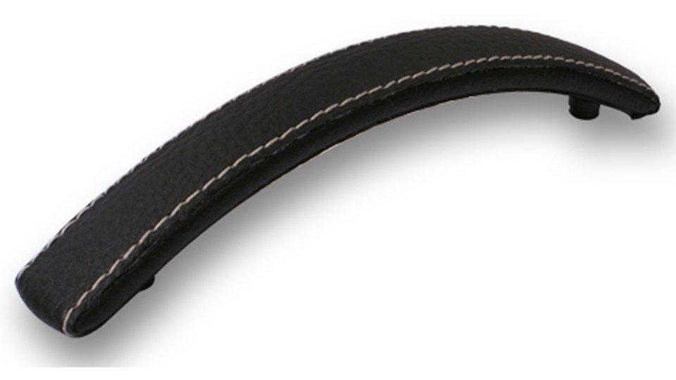 Möbelgriff Flöha, Modern Kunstleder - Kunststoff schwarz | 0138x27x22 LA:96