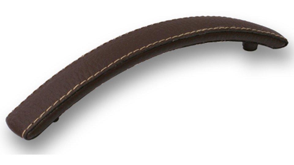 Möbelgriff Flöha, Modern Lederstruktur - Braun | 0171x22x28 LA:128