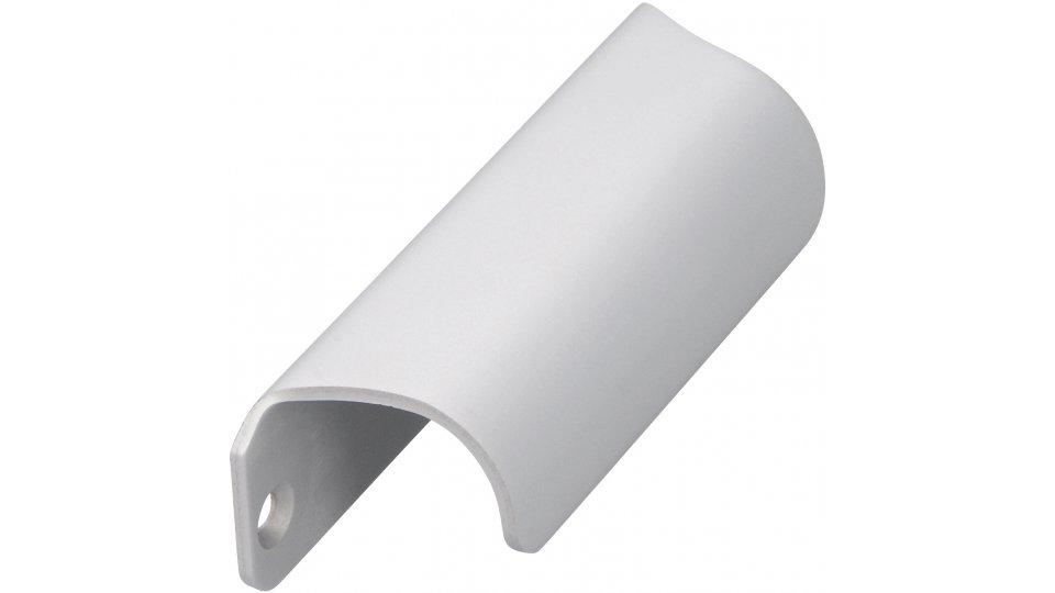 Möbelgriff Friedberg, Schlicht Aluminium silber natur matt | 0090x27x25 LA:80