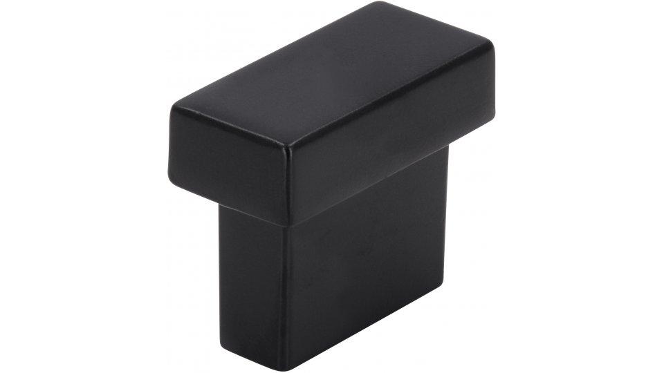 Möbelgriff Giengen, Schlicht Druckguss schwarz matt pulverbeschichtet   0029x24x14 LA:16