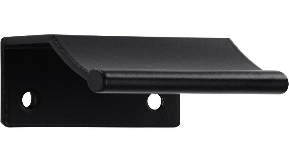 Möbelgriff Gilching, Schlicht Zinkdruckguß pulverbeschichtet - Schwarz matt | 45x20x50 LA:32