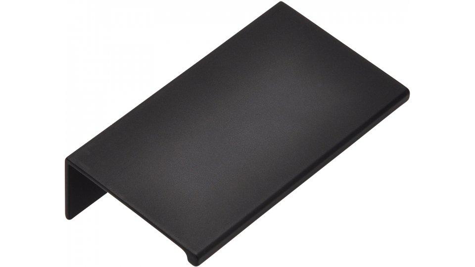 Möbelgriff Gudensberg, Schlicht Aluminium schwarz matt pulverbeschichtet | 0070x20x40 LA:48