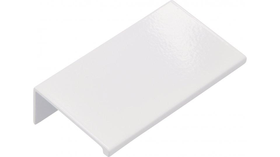 Möbelgriff Gudensberg, Schlicht Aluminium reinweiß pulverbeschichtet | 0070x20x40 LA:48