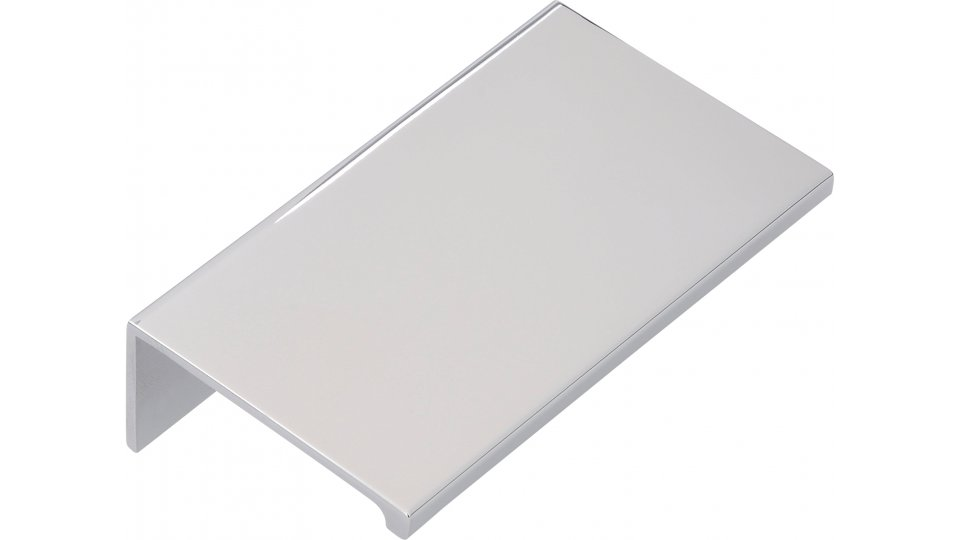 Möbelgriff Gudensberg, Schlicht Aluminium chrom glänzend | 0070x20x40 LA:48