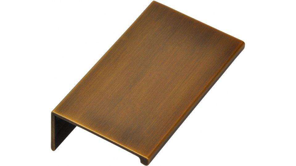 Möbelgriff Gudensberg, Schlicht,  Vintage Aluminium messing schwarz gebürstet | 0070x20x40 LA:48