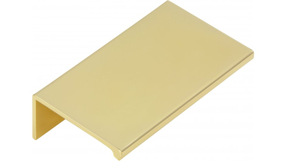 Möbelgriff Gudensberg, Schlicht Aluminium glänzend vermessingt | 0070x20x40 LA:48