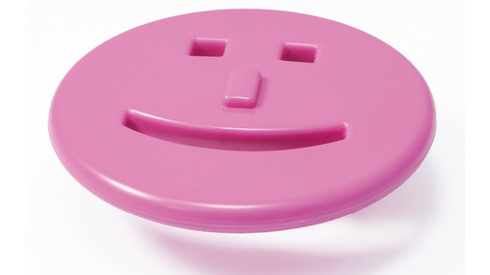 Möbelgriff Harrislee, Kinder,  Smilie Kunststoff - Violett | 70x39x25 LA:32